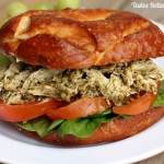 Chicken Pesto Sandwich recipe from TastesBetterFromScratch.com