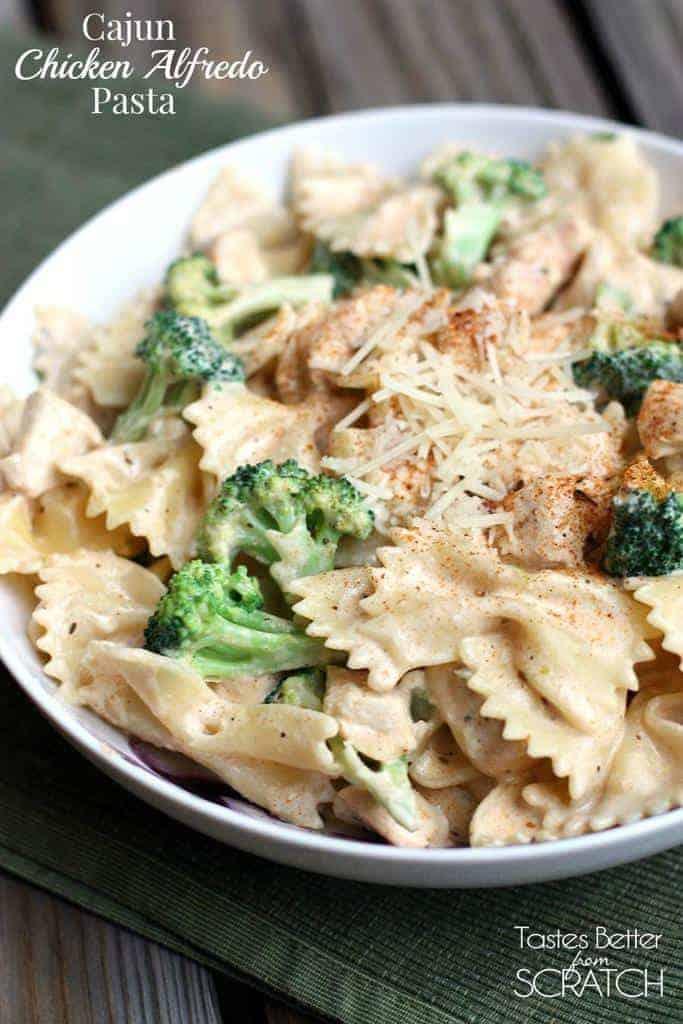 Cajun Chicken Alfredo Pasta  - Tastes Better From Scratch-1179