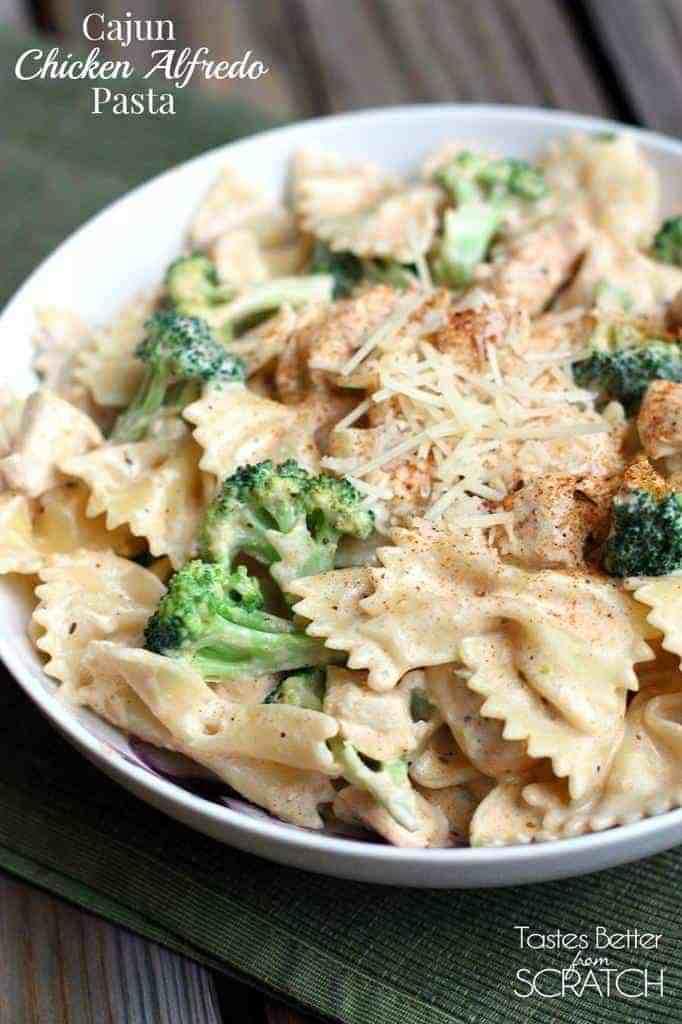 Cajun Chicken Alfredo Pasta recipe on TastesBetterFromScratch makes the easiest 30-minute-meal!
