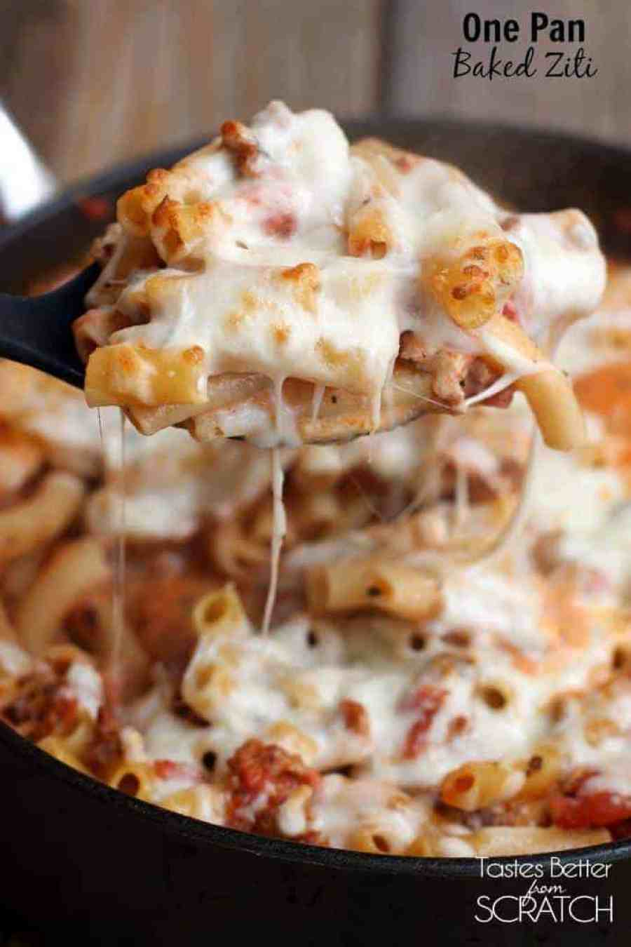 One Pan Baked Ziti Tastes Better From Scratch