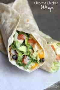 Chipotle Chicken Wrap recipe on TastesBetterFromScratch.com
