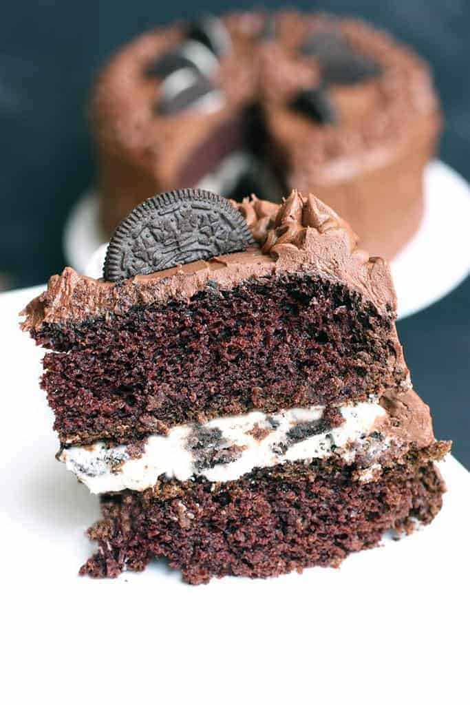 Chocolate Cake with Oreo Cream Filling | - Tastes Better From Scratch