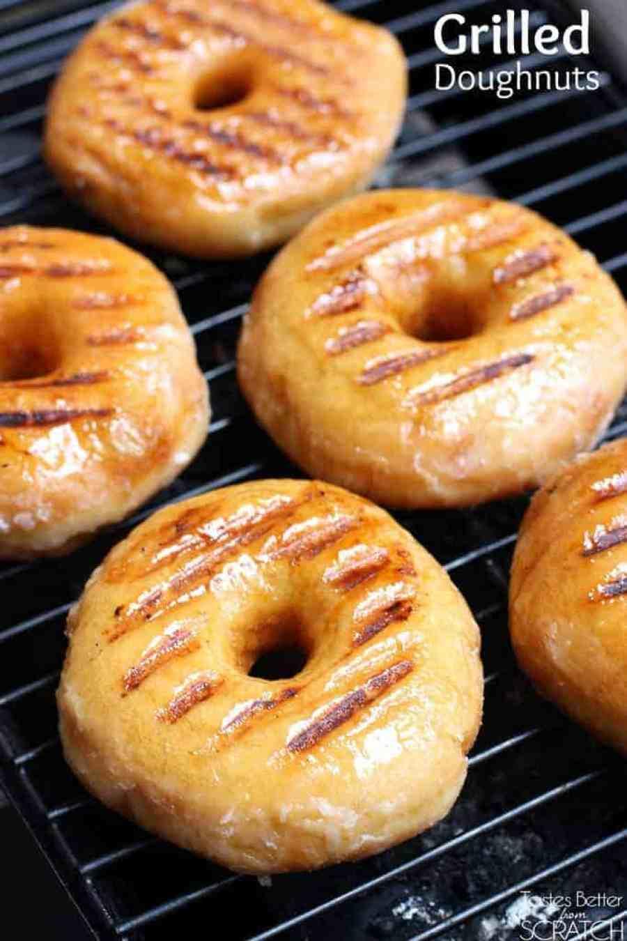 Grilled Doughnuts on TastesBetterFromScratch.com