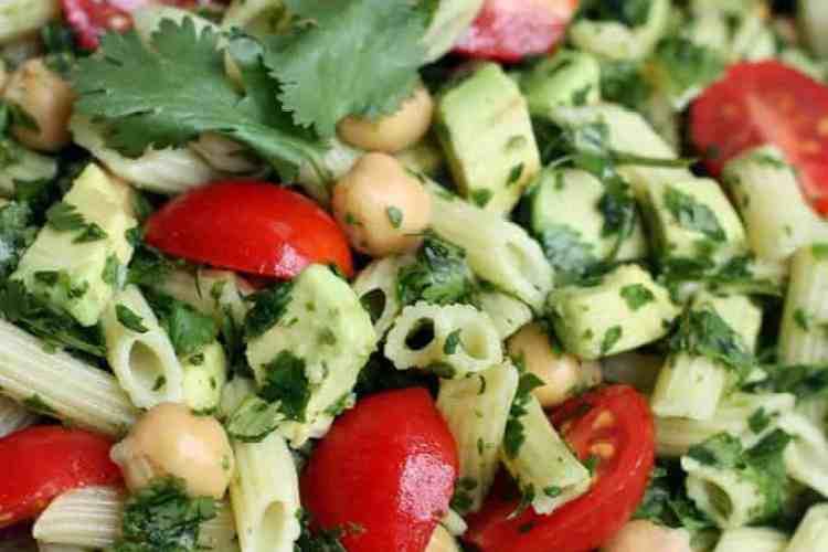 Spinach Avocado Pasta Salad