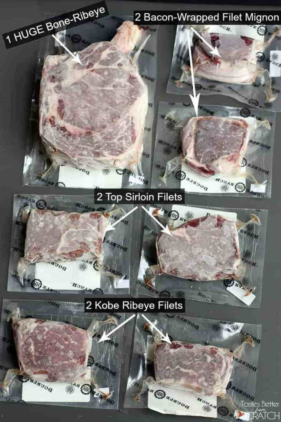 The Perfect Father's Day Gift--STEAKS!--details on TastesBetterFromScratch.com