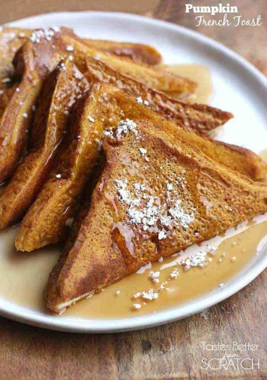Pumpkin French Toast recipe from Tastes Better From Scratch