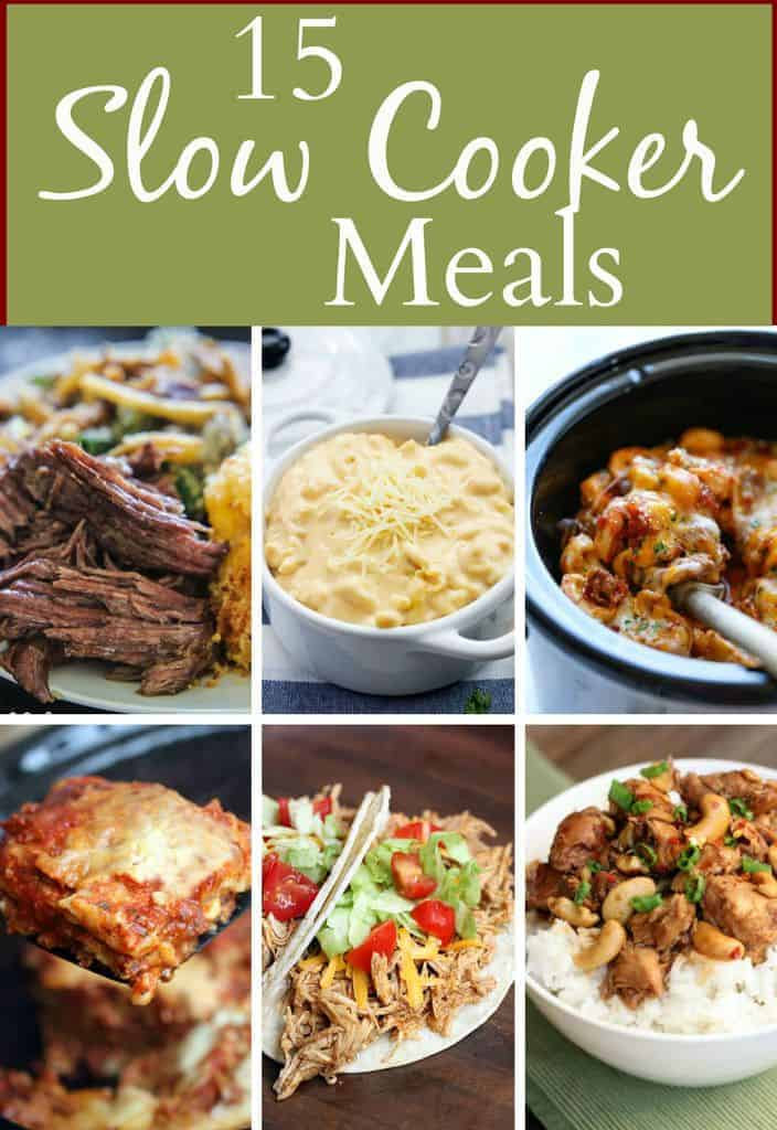 Easy Slow Cooker Meal Ideas to make dinner a breeze!