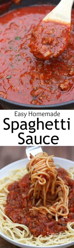 Easy homemade spaghetti sauce recipes
