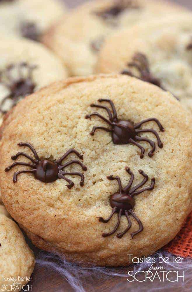 Chocolate Chip Spider Cookies | - Tastes Better From Scratch