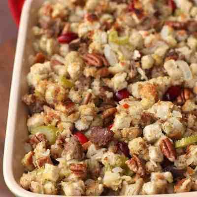 Sausage Cranberry Pecan Stuffing