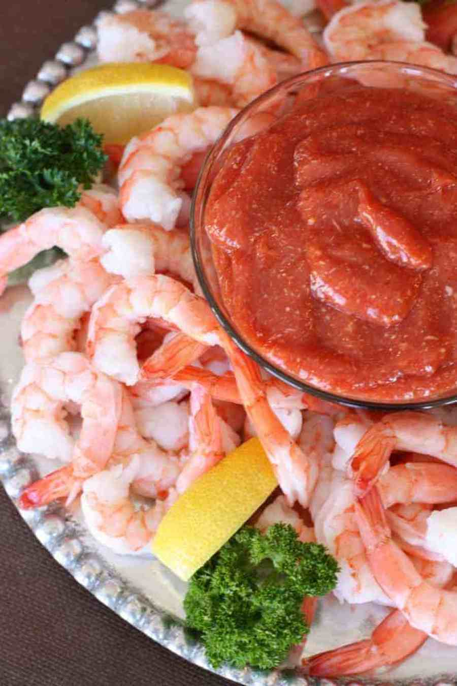 3 ingredient SHRIMP COCKTAIL SAUCE that's easy and amazing homemade. You won't buy it from the store ever again! | Tastes Better From Scratch