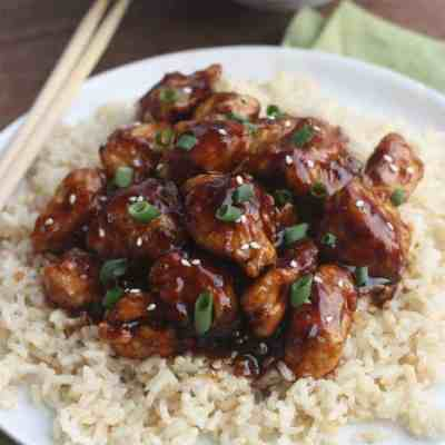 General Tso's Chicken (slow cooker or stove top)