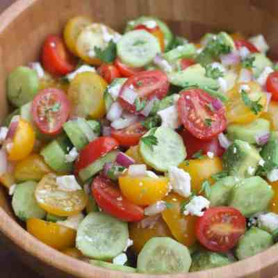 Tomato Cucumber Avocado Salad