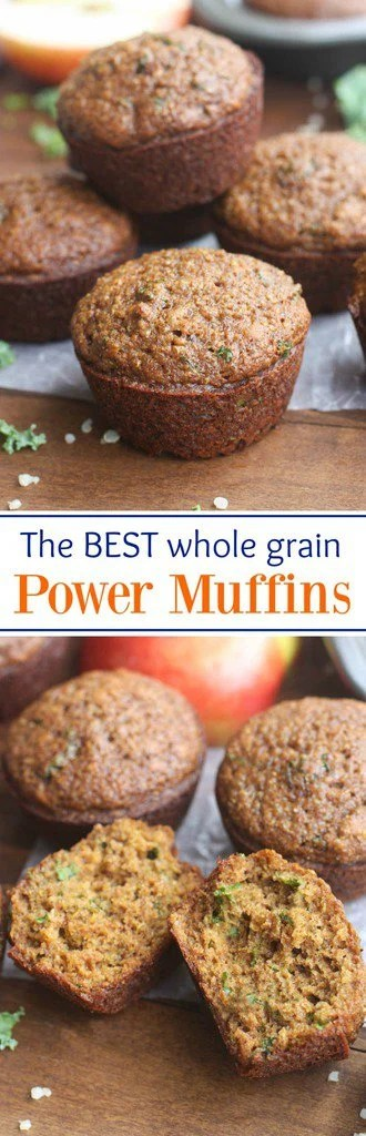 These Power Muffins are not only DELICIOUS and perfectly sweet, they're loaded with superfoods and whole grains so you can feel good about feeding them to your family. They're freezer-friendly too! | Tastes Better From Scratch | Tastes Better From Scratch