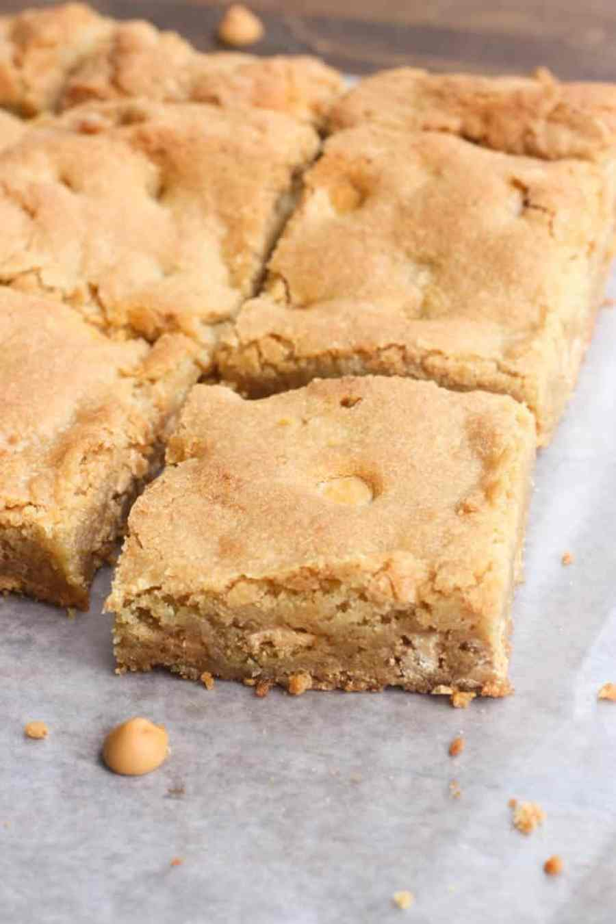 Butterscotch Blondies served with vanilla ice cream and a simple homemade butterscotch sauce | Tastes Better From Scratch