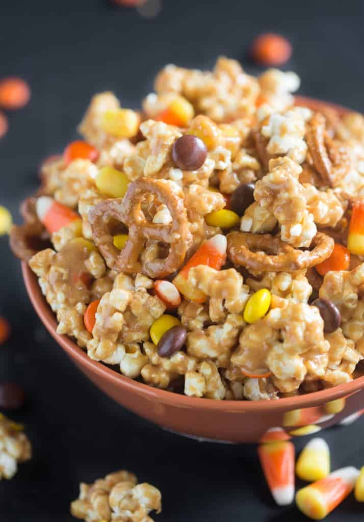 Peanut Butter Popcorn Party Mix Tastes Better From Scratch