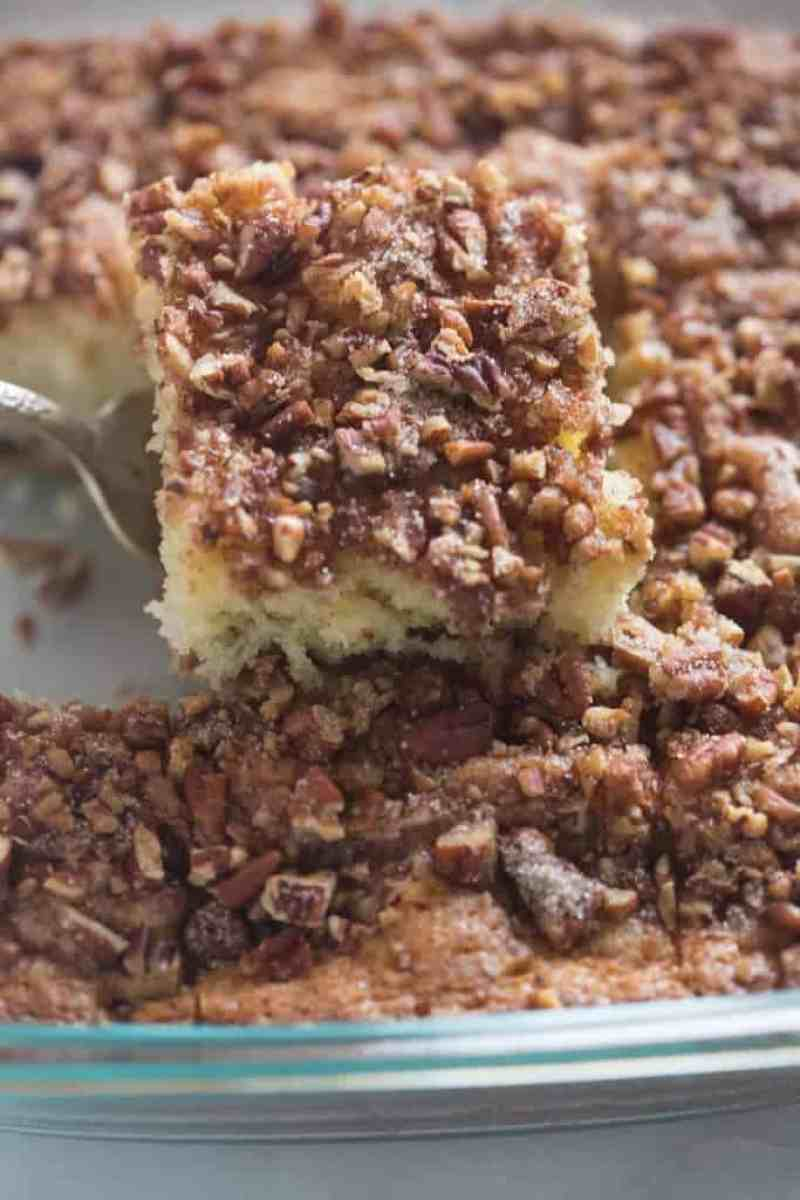 Sour Cream Coffee Cake with cinnamon pecan topping | Tastes Better From Scratch