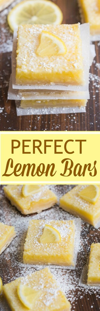 My favorite EASY lemon bars are perfect for Spring, with just the right ratio of buttery shortbread crust and creamy lemon filling. | Tastes Better From Scratch