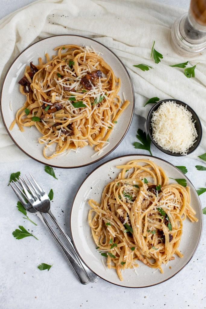 smokey mushroom pasta