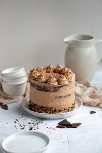 chocolate brownie layer cake