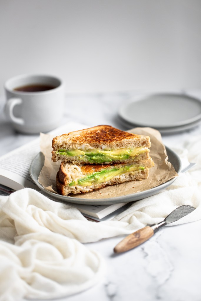 avocado and Boursin grilled cheese  food styling food photography