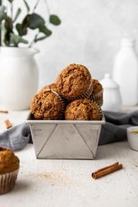 cinnamon ginger carrot muffin