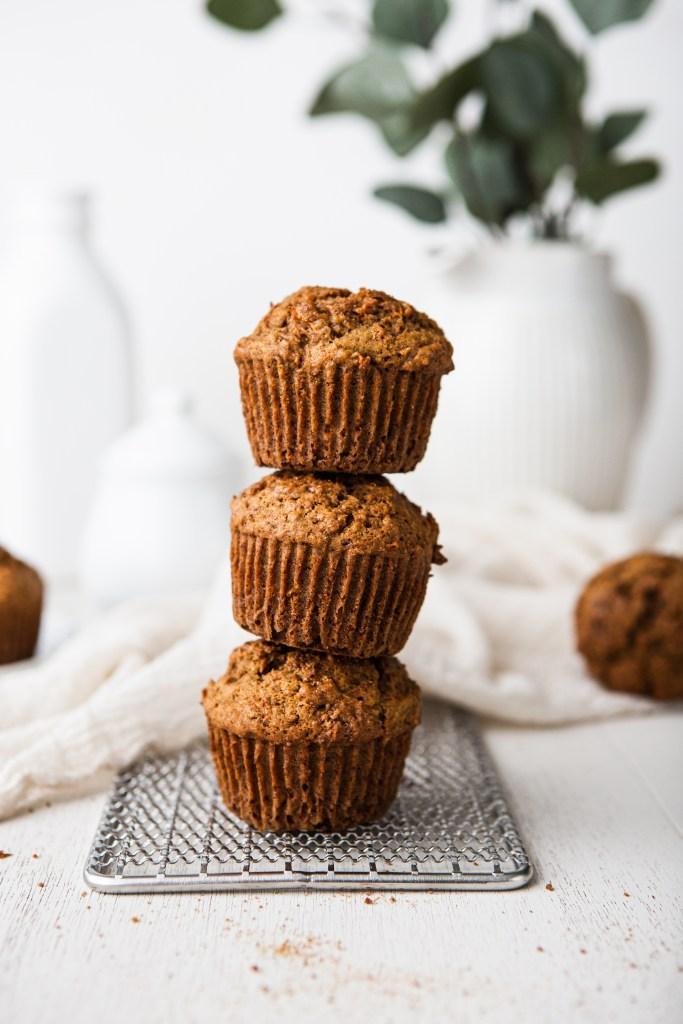 cinnamon ginger carrot muffins