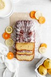 Citrus Olive Oil Loaf with a dusting of icing sugar