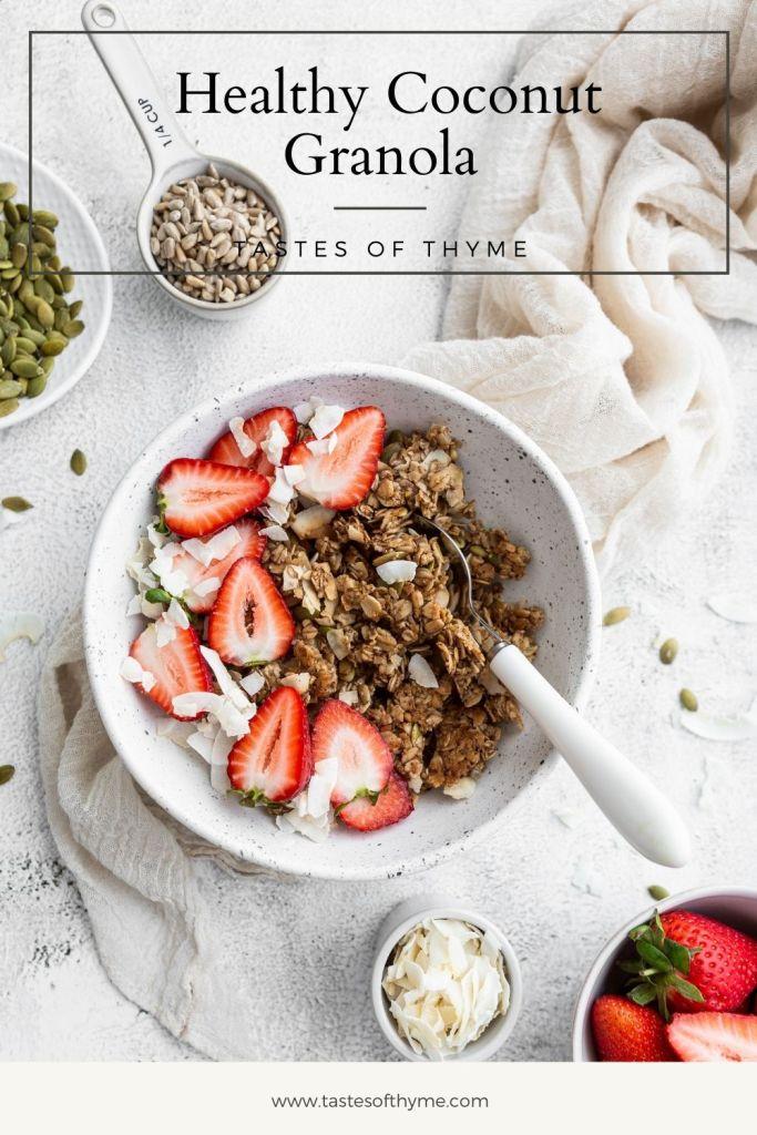 bowl of healthy coconut granola