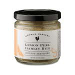 Lemon Peel Garlic Rub