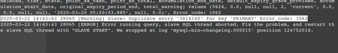 mysql error code 1062, mysql slave duplicate entry, mysql slave skip errors.