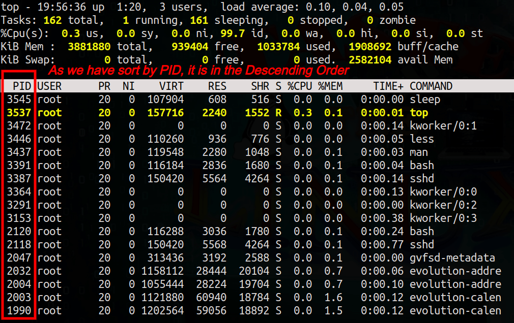 Linux top command, top command in Linux/UNIX.