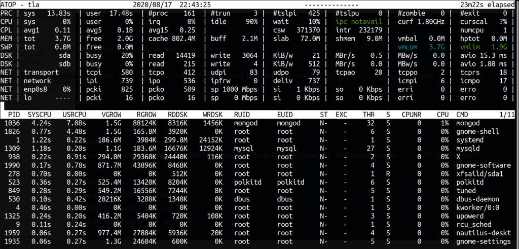 atop install CentOS 7 Linux Ubuntu amazon 2 command