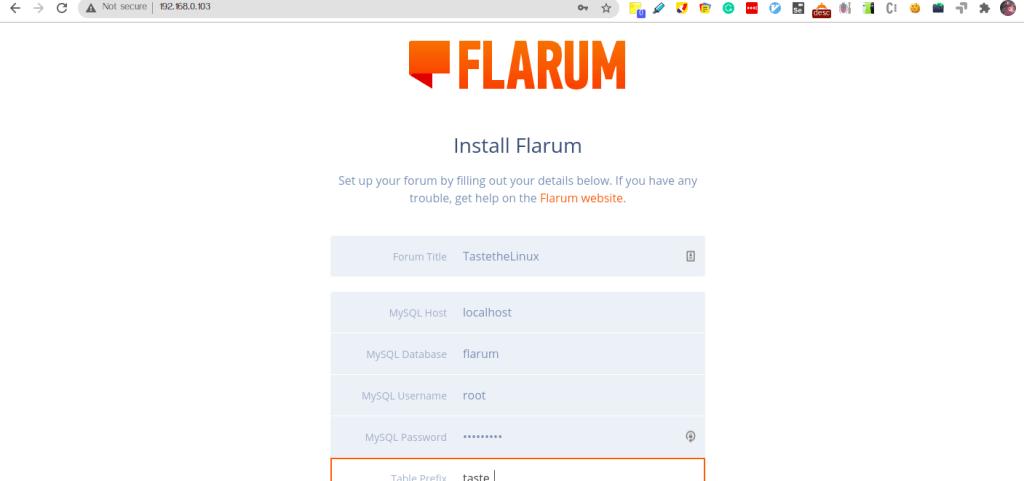 Install Flarum on Ubuntu 18.04 on AWS Linux