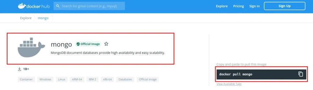 How to Install MongoDB on Docker Container linux Docker hub