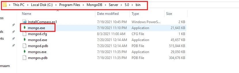 Install MongoDB in Windows Path