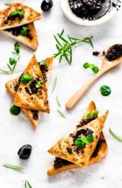 Crispy Tapenade Tofu Toast