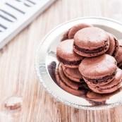 Dark Chocolate & Sichuan Pepper Macaron