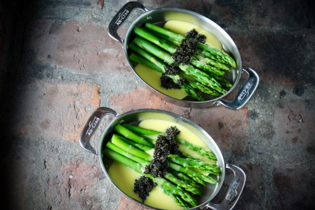 Image result for asparagus caviar