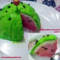 Watermelon ice cream cake