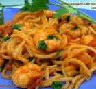 prawn spaghetti with tomato
