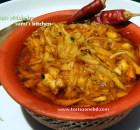 Chopped mango pickle (Aamer jhuri achar)