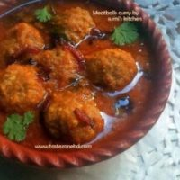 Meatballs curry