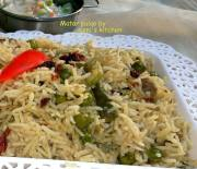 Matar pulao (green pea rice)