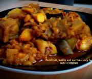Echor, lentils & beef curry
