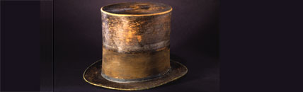 Lincoln's Hat (image courtesy National Museum of American History, Smithsonian Institution)