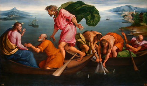 The Miraculous Draught of Fishes by Jacopo Bassano