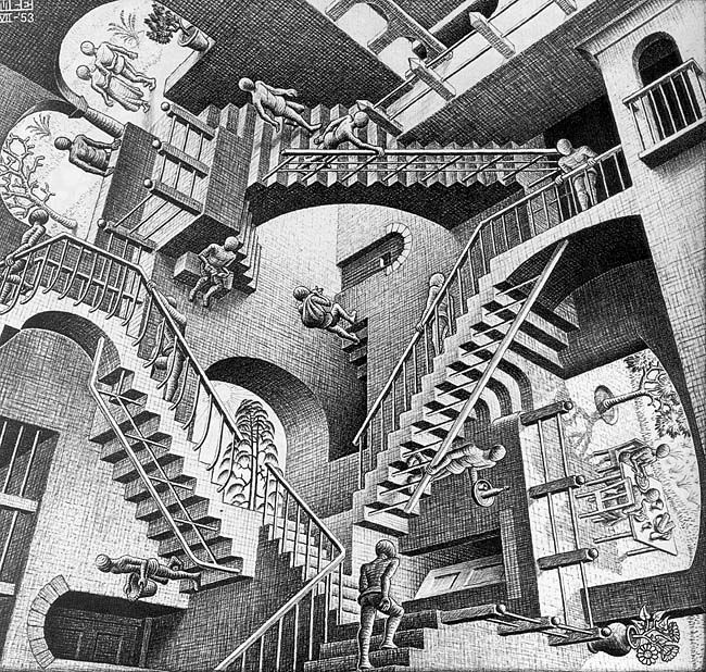 Relativity by Maurits Cornelis Escher