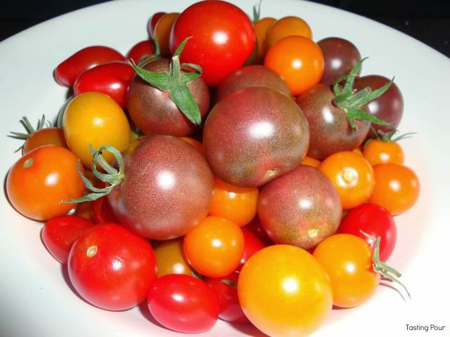 Bowl of local cherry tomatoes