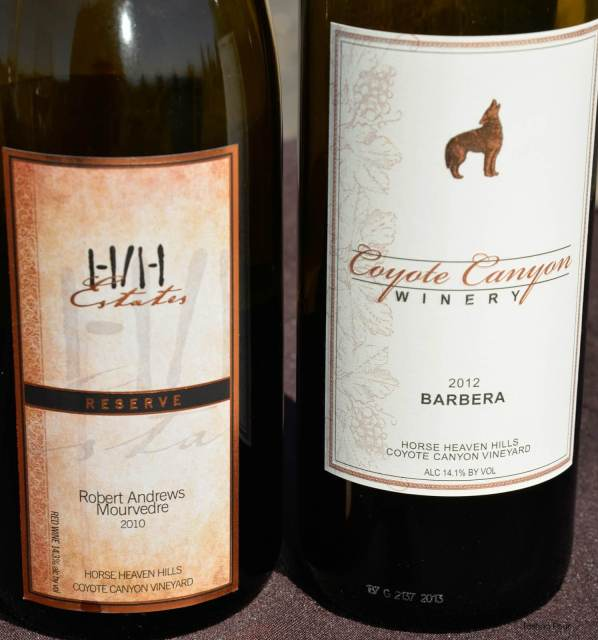 H/H Estates and Coyote Ridge Vineyard wines from Horse Heaven Hills